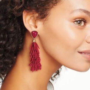 Stella and Dot Red Riva Tassel earrings